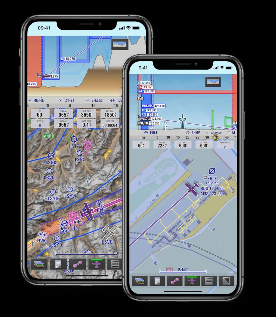 EasyVFR 4-Air navigatie app