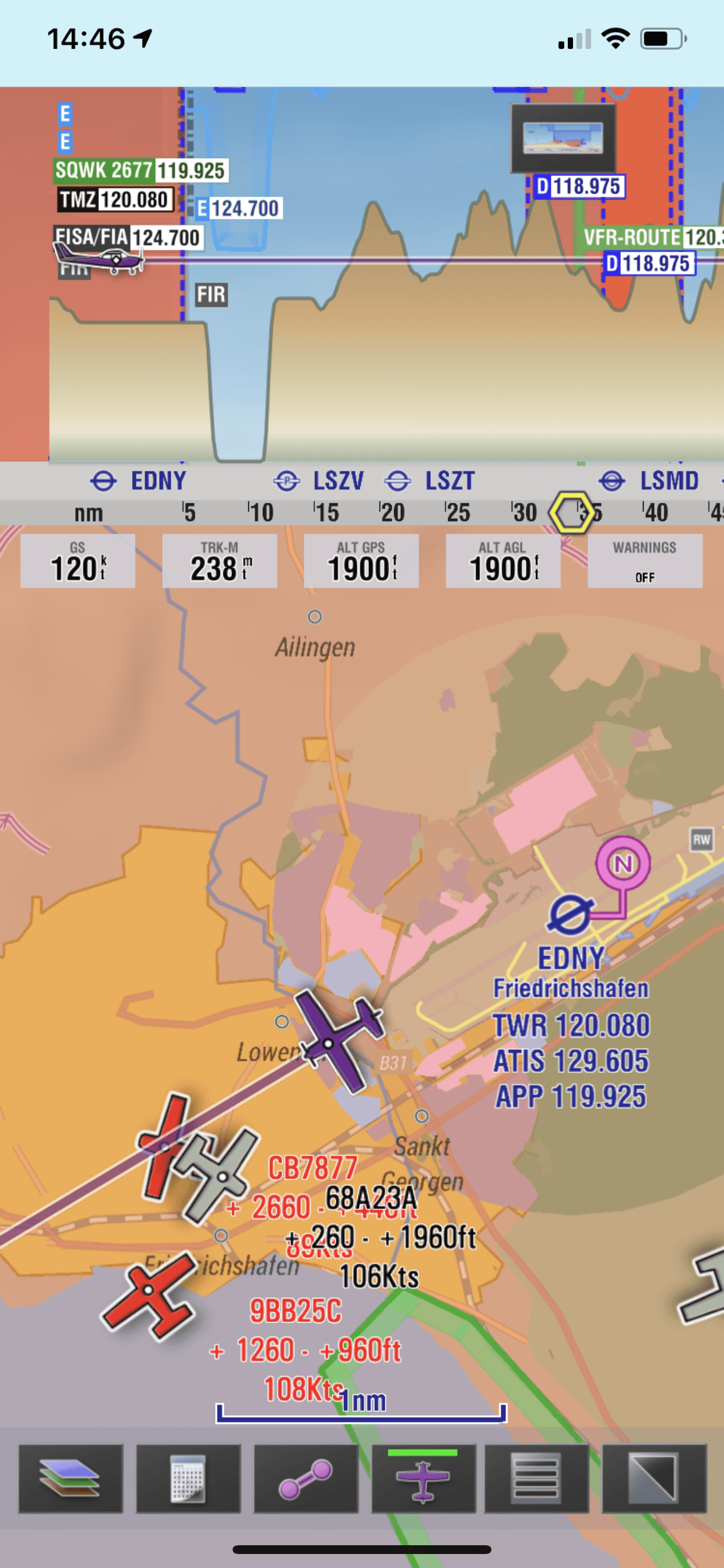 EasyVFR4 - Flugnavigation App