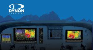 Dynon Avionics SkyView blauwe bergachtergrond