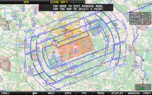 Dynon SkyView HDX EasyVFR 4 chart for Dynon Berlin
