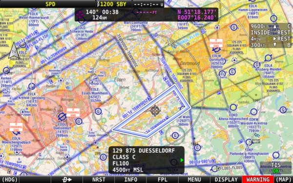 Dynon SkyView HDX EasyVFR 4 chart for Dynon SQWK codes and frequancies