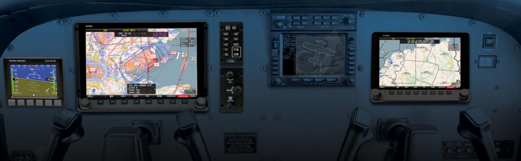 EasyVFR 4 chart in ev4 dynon cockpit