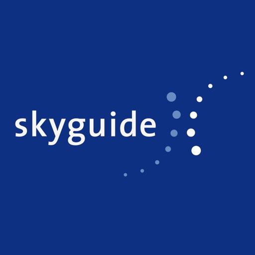 Skyguide dark blue background