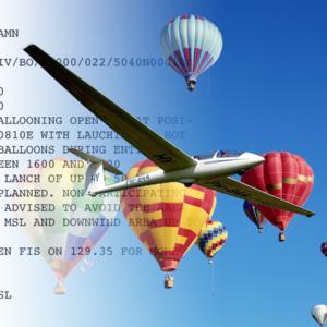 notam balloon glider